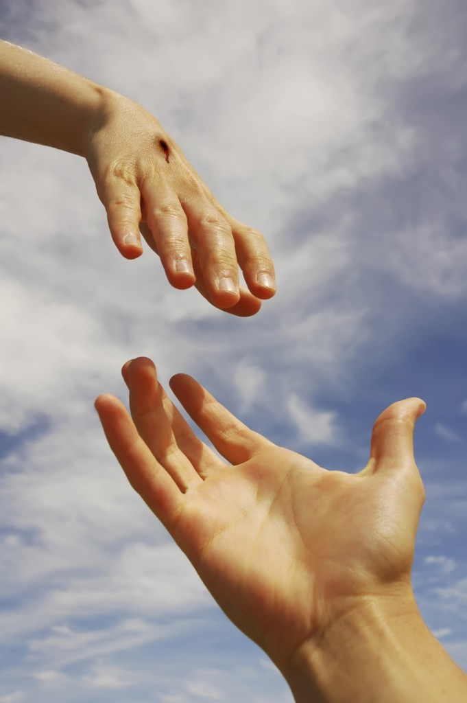 Helping-hands-CHrist-reaching