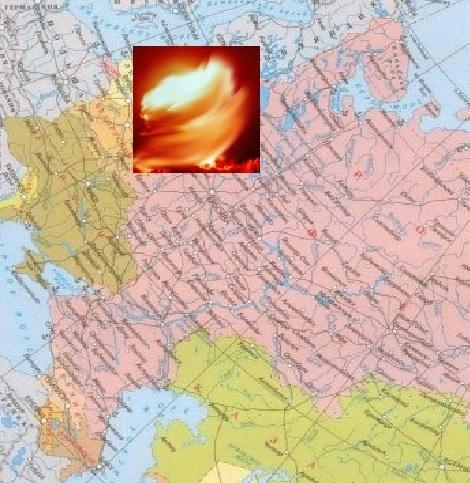 Вихрь на карте